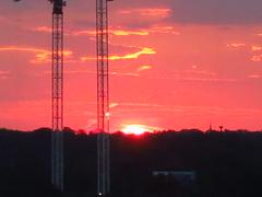 stormy sinrise with cranes Dallass TX (46) (Learn, Love, Conserve) Tags: dallastexas sky crane sunrise