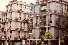 Grenoble, France (Haytham M.) Tags: france grenoble design architecture buildings pots flowers balconies