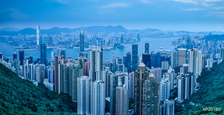 Hong Kong Panorama before dusk