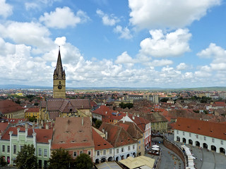 View from the Council Tower of Sibiu