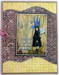 Breathe Collage Card (janettefuller) Tags: handmade handmadecard handmadegreetingcard fairy encouragement collage collagegreetingcard lisasalteredart art crafts cardmaking papercrafts breathe inspiration