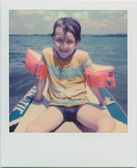 In the middle of the lake (SX-70) (mmartinsson) Tags: 2018 summer polaroidoriginals color sup lake scan schondorf instantfilm ammersee epsonperfectionv700 polaroid sx70 paddling analoguephotography schondorfamammersee bayern tyskland de