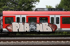 PLAN B (rebecca2909) Tags: character paintedtrain trains train graffiti graff dortmundgraffiti dortmund plbcrew planb