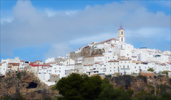 Juncera (kate willmer) Tags: town chruch tower sunlight clouds architecture andalucia spain