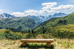What a view (not4rthur) Tags: gaschurn vorarlberg autriche at mountains alps bench summer