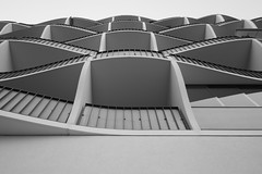 the wave. (Jacques Tueverlin) Tags: 2018 wellen leica monochrom waves architecture black abd white urban structures