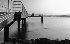 New Pier (Erik Iovich) Tags: embarcadero blanco y negro bw black white sea mediterraneo españa spain málaga estepona andalucia paisaje paisajes landscape pier