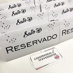 Reservas de mesa para os #50anos do Sato! 🎈🎈🎈 🎁casamentosetravessuras.com #casamentosetravessuras (casamentosetravessuras) Tags: instagram facebookpost lembrancinhas personalizadas