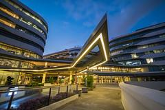 Singapore University of Technology and Design - SUTD (jacysf) Tags: sutd bluehour throughherlens singaporeuniversity urban exploreflickr