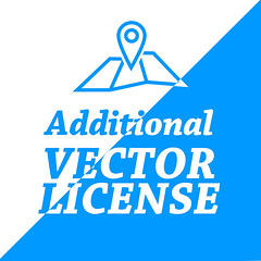 Additional license (Hebstreits) Tags: custom design license map service vector