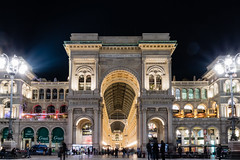 Galleria Vittorio and Duomo Di Milano illuminated at night from Milan Italy (arnaud_martinez) Tags: anthology art carlo catholic church city cityscape corso da emanuele exhibition fieramilano grazie illuminated italy leonardo maria milan milano museum night piazza tourism vinci vittorio architecture basilica centre couvent culture delle design di duomo famous fashion galleria house lombardy old opera palace place roman santa school tower trade travel urban