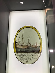 1700 stained glass depicting sailing ships (quinet) Tags: 2017 amsterdam glasmalerei maritimemuseum netherlands scheepvaartmuseum stainedglass vitrail northholland neterlands 528
