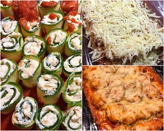 Last Night's Dinner.... (Little Hand Images) Tags: zucchini vegetable spirals ricottacheese mozzerellacheese dairy onion garlic oregano redpepperflakes spices marinarasauce parmesancheese baked nopasta