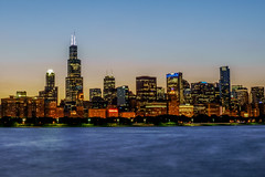 Chicago Skyline Sunset: Southside | Sears Tower (Willis Tower) (Joshua Mellin) Tags: chicago skyline sunset summer 2018 south southside skyscraper building buildings lakemichigan nearsouthside downtown night sun dusk blue light bright dark sears lights tower joshuamellin writer photographer photo picture pics journalist freelance season warm august lolla lollapalooza nights nightmoves bee buzz hive beehive flickr explore search ad advertising license for sale iconic ideal realty realestate website design water unsual lightblue waters mysterious strange intriguing inviting invite tourism tourist