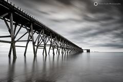 Steely Pier, Hartlepool (Silent Eagle  Photography) Tags: sep silenteaglephotography seascape bw longexposure leefilters water sea clouds northeast monochrome deaf canon canoneos5dmarkiii