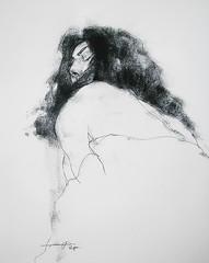P1018446 (Gasheh) Tags: art painting drawing sketch portrait figure girl line pen cnarcoal gasheh 2018 charcoal 2018l