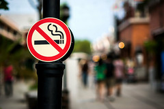 23882729_ml-nosmoke (mghresearchinstitute) Tags: avoid background black cigarette circle fine foreground law metal no park people permission please pole post prohibition public rectangular red rule sign signage smoking standard statute symbol symbolic symbolism tree white