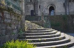 Pontevedra: Igrexa de San Francis (zug55) Tags: pontevedra galicia españa spain spanien galicien igrexadesanfrancis churchofstfrancis prazadaferreria ferreriasquare igrexa iglesia church gothic gotico explore stairs steps