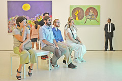 Modern gallery (t.horak) Tags: sitting modern gallery bench people watching pictures paintings art