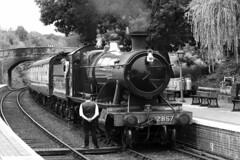 2857 GWR Class 2800 (1918) (Roger Wasley) Tags: 2857 gwr class2800 steam locomotive arley svr severnvalleyrailway train heritage mono blackandwhite monochrome trains railways