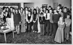 Mixed feelings (Mrs Fogey) Tags: retirement school teacher 1974 fashion stutton suffolk blackandwhite