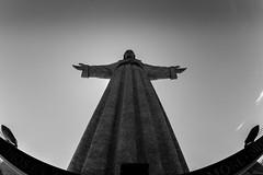 Cristo Rei / arms wide open (Özgür Gürgey) Tags: 12mm 2018 almada d750 lisbon nikon portugal samyang architecture cristorei fisheye monument sky symmetry