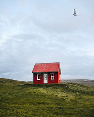 Red house. (Tanner Wendell Stewart) Tags: ifttt 500px cottage north atlantic salt marsh shack faroe islands hut newfoundland countryside cape breton island peggys cove outer hebrides settlement iceland west fjords