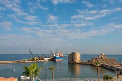 Shipyard and Castle (stefanos-) Tags: mediterranean saida middleeast backpacking sidon lebanon arab travelling