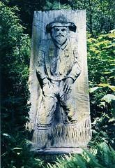 Trees of Mystery - Hungry? (marmotfotos) Tags: miner woodcarving klamath california biketrip biketouring