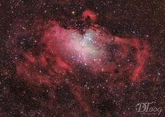 Eagle Nebula - Messier 16 (Delberson Tiago) Tags: astrophotography astronomy astrofoto astrofotografia astronomia astrophoto amateur nebulae nasa night nightsky nebulosa nebula nature universe universo cosmos messier messier16 milkyway astrometrydotnet:id=nova2762343 astrometrydotnet:status=solved
