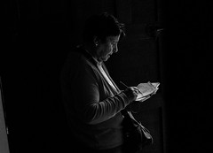notes in the dark in bw (Claudia Merighi) Tags: takingnotes writing dark shadow woman blackandwhitephotos blackandwhiteonly blackwhitephotos blackandwhitephotography streetphotography streetphotographers street claudiamerighi bw