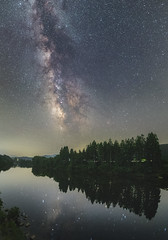 2947 (Keiichi T) Tags: 夜景 川 空 天の川 milkyway tree 6d 木 green 森 night shadow eos 光 canon 緑 影 日本 水 リフレクション 夜空 星 star reflection japan forest water river sky 夜