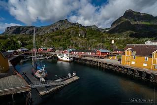 Lumière du Nord sur Nusfjord (Norway)