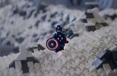 Sentinel of Liberty (Ben Cossy) Tags: sentinel liberty cap captain america chris evans avengers winter soldier shield steve rogers snow ice rock moc afol tfol marvel mcu