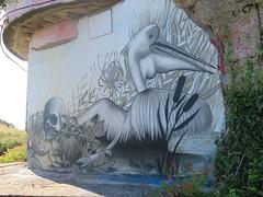 Emi Pupa 2018 (emilyD98) Tags: street art saint nazaire insolite mur wall graff graffiti tag urban exploration explore rue emi pupa oiseau animal pelican blockhaus bunker