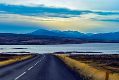 Iceland travels (Geoffrey Hunt Photography) Tags: iceland arctic road travel landscape background mountain sea beauty sky