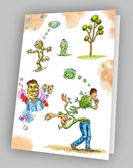 Surreal whimsy notecard... (jasoux) Tags: artwork art notecard surreal surrealism sketch drawing painting watercolor watercolour paint pen ink inkpen illustration cartoon freeassociation introspection introspective