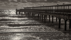 Boscombe Pier (WatsonMike) Tags: 2012 beach boscombe boscombepier bournemouth british christmas england english europe gb greatbritain hampshire ipsv0798 ipsv2707 ipsv4976 sea seaside uk unitedkingdom water weather ocean pier roughweather seashore seasidelandscape waves