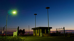 Building 1007 (norbert.r) Tags: abandoned building flickrchallengegroup gx80 hahnairbase sunset sky outdoors dusk industry nature landscape night sunlight blue sun equipment metal