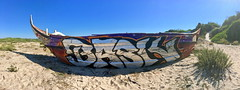 "Obrigado! 🇵🇹😎🌊 (""skeba"") Tags: road trip portugal 2018 épave bateau boat decay destroy graff graffiti silver plata chromada chrome vandal legal urbex plage playa beach bask"
