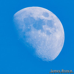 Waxing Gibbous Moon (82.5% Illuminated) (J. Brown Photography) Tags: photo james brown photography sony alpha day lunar moon astrophotography waxing gibbous