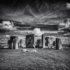 Stonehenge - Wiltshire, England - October 2014 (MB-FOTOGRAFIA) Tags: stonehenge bw square wiltshire england uk clouds nikon df nikondf sigma sigma1224mm