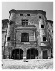 Saint bonnet le chateau  ,ancienne maison Bouchetal (LUDOVIC. R) Tags: saintbonnetlechateau anciennemaisonbouchetal 75mm28 7artisans noiretblanc noir et blanc monochrome