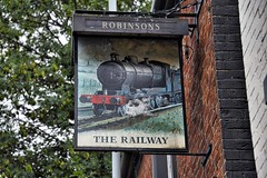 Woodley Greater Manchester 13th August 2018 (loose_grip_99) Tags: woodley greater manchester railway railroad rail greatcentral gcmrjr northwest cheshire cheshirelinescommittee clc pub public house sign gcr o4 therailway august 2018 almostanything