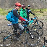 BC Team Summer Training Group men mountain biking in the Chilcotins