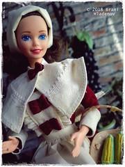 Pilgrim Barbie (Brani's fashion dolls) Tags: pioneer barbie pilgrim superstarbarbie dollcollection 90sbarbie historical costumes
