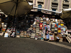 Skopje (Til..) Tags: macedonia skopje mazedonien bookshop book books street sun parasol tito yugoslavia jugoslavien mutter theresa mother bücher buch buchladen sonnenschirm fujifilm x10 bookstore
