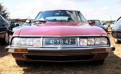 Citroën SM 2.7 Injection (Skylark92) Tags: citroën water forest boat sky grass gelderland maurik van eiland window windshield tree building car road citroen jaar 100 holland netherlands nederland vehicle sm 27 injection 41yb42 1973