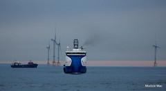Smoking blue (mootzie) Tags: ship offshore nao blue windfarms aberdeen sea scotland smoking energyefficient energy efficient horizonpink