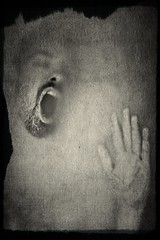 Jean-Marie # 34 (just.Luc) Tags: man male homme hombre uomo mann portret portrait ritratto retrato porträt face gezicht visage gesicht hand main baard barbe barba bart beard goatee bn nb zw monochroom monotone monochrome bw texturized parijs parigi paris îledefrance france frankrijk frankreich francia frança